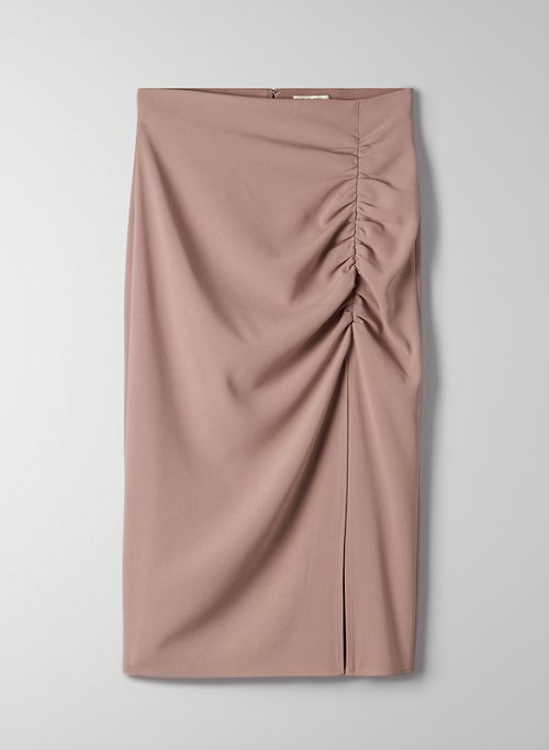 MAYHEW SKIRT - Ruched midi skirt