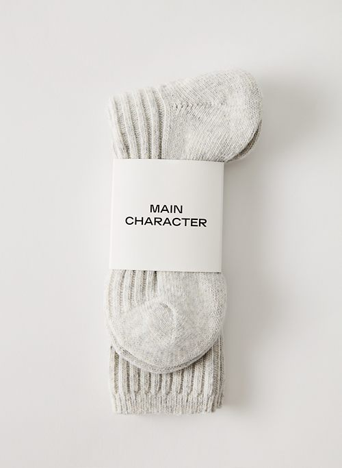 COZY RIBBED CREW SOCK - Ribbed crew sock