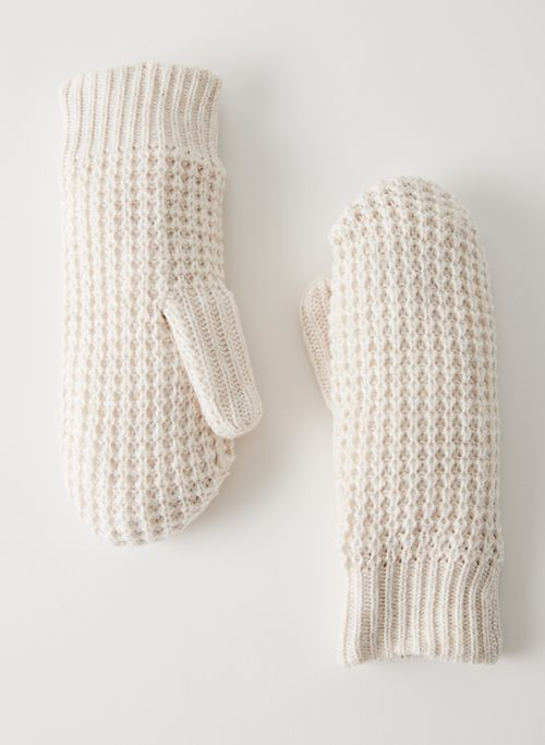 LOLO MITTEN - Fleece-lined knit mittens