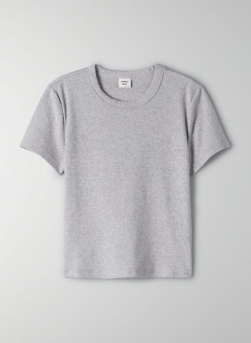 LITTLE RIBBED T-SHIRT - Cropped crewneck t-shirt