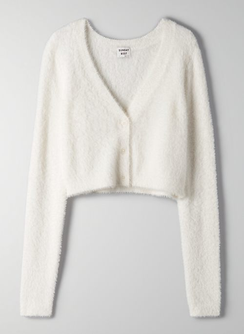 REESE CARDIGAN - Cropped V-neck cardigan