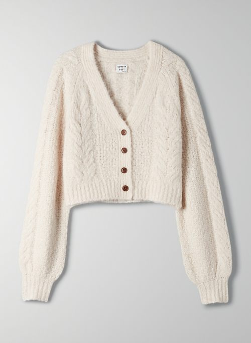 BRUIN CARDIGAN - Cropped cable knit cardigan