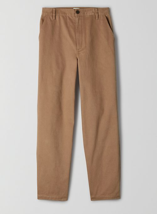 JADEN PANT - Cotton high-waisted chino