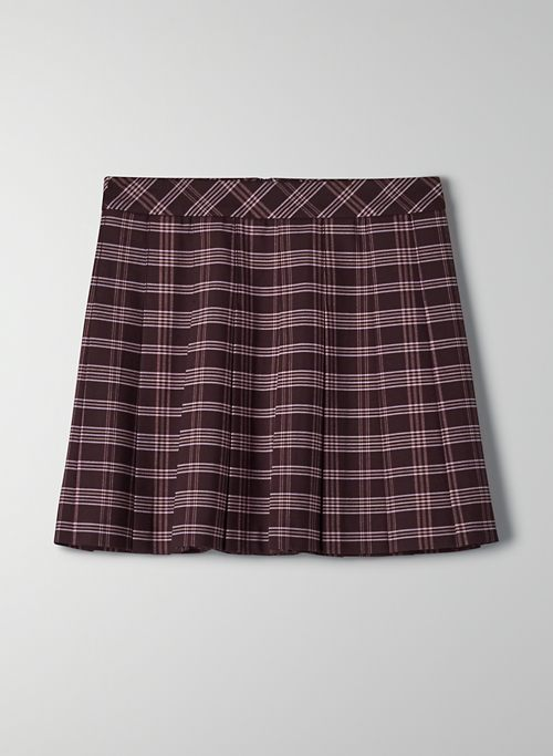 OLIVE SKIRT - Pleated mini skirt