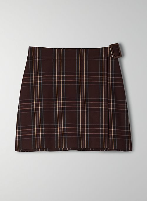 PILOT SKIRT - Plaid wrap mini skirt