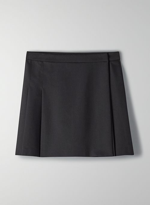 BLOSSOM SKIRT - Pleated wrap mini skirt