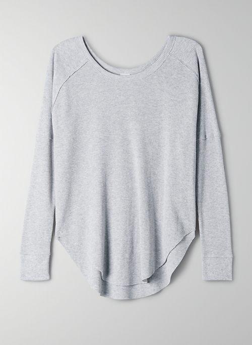 ALDER THERMAL - Long-sleeve, waffle-knit shirt