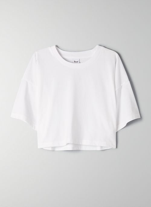 LAID BACK T-SHIRT - Boxy-fit, cropped t-shirt
