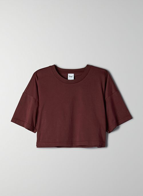 LAID BACK T-SHIRT - Cropped, boxy t-shirt