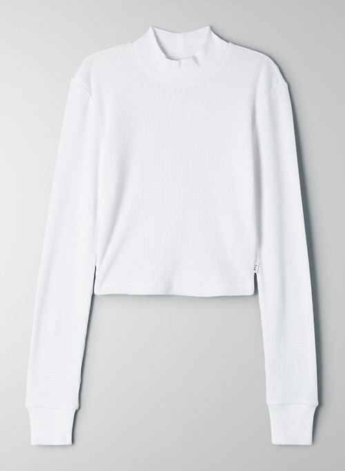 THERMAL MOCKNECK - Cropped, mock neck, waffle-knit