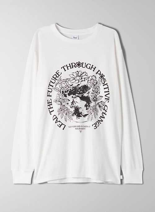 TOUR LONGSLEEVE - Boyfriend-fit, long-sleeve t-shirt
