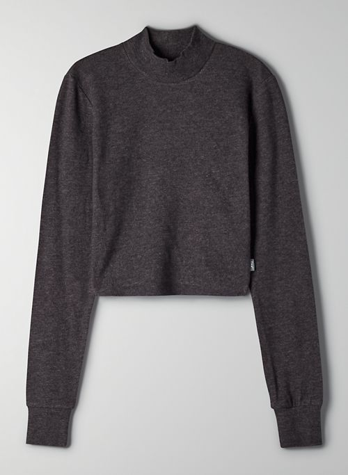 STANTON LONGSLEEVE - Cropped mock-neck long-sleeve t-shirt