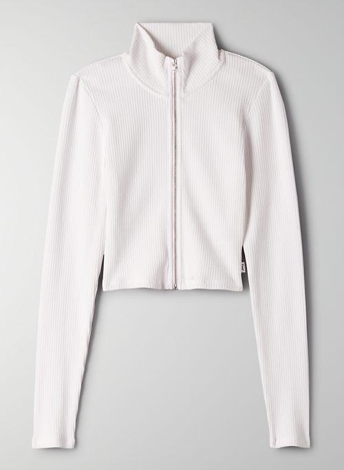 COPLEY LONGSLEEVE - Cropped zip-up sweater
