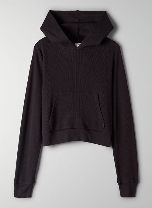 STATEN THERMAL - Cropped waffle-knit hoodie