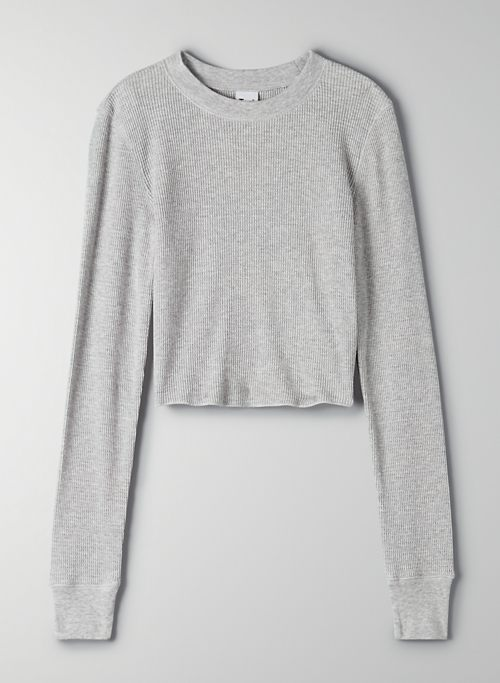 ALBANY THERMAL - Cropped thermal crewneck