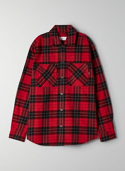 RAE BUTTON-UP - Oversized plaid shirt