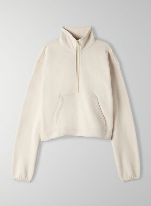 POLAR 1/2 ZIP SWEATER - Cropped fleece sweater