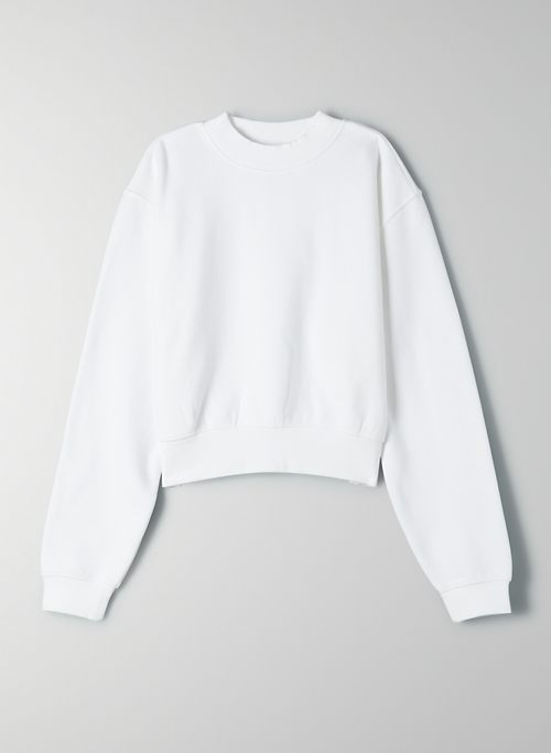 COZYAF PERFECT SHRUNKEN SWEATSHIRT - Cozy As Fleece, cropped crew-neck sweatshirt