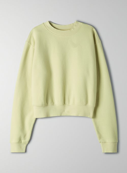 COZY FLEECE PERFECT SHRUNKEN SWEATSHIRT - Cropped crew-neck sweatshirt