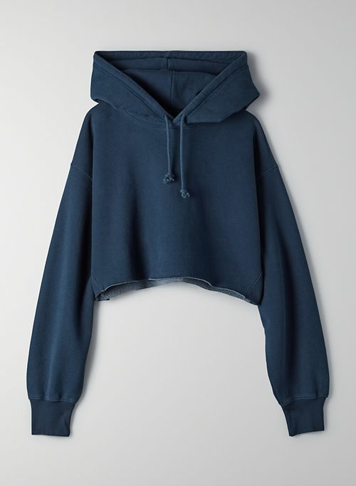 COZYAF BOYFRIEND CROPPED HOODIE - Cozy As Fleece, cropped oversized hoodie