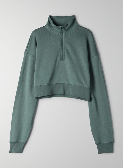 AIRYAF BOYFRIEND 1/4 ZIP SWEATSHIRT - Airy As Fleece, cropped 1/4 zip sweatshirt