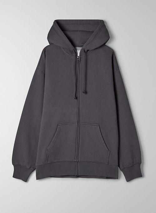 COZYAF BOYFRIEND ZIP-UP HOODIE - Boyfriend-fit zip-up hoodie