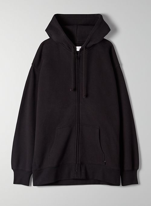 COZYAF BOYFRIEND ZIP-UP HOODIE - Cozy As Fleece, oversized zip-up hoodie