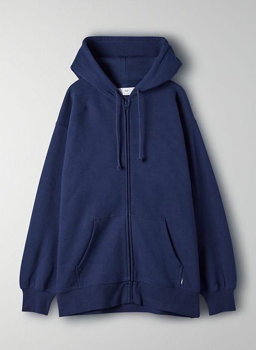 COZY FLEECE BOYFRIEND ZIP-UP HOODIE - Oversized zip-up hoodie