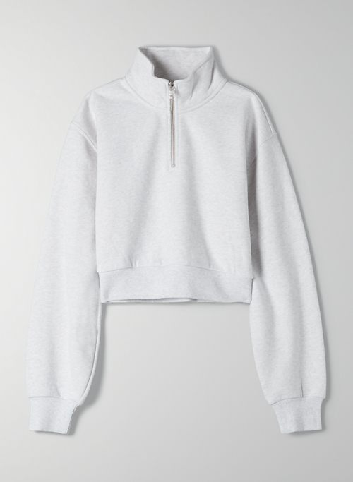 COZYAF PERFECT 1/4 ZIP SWEATSHIRT | Aritzia