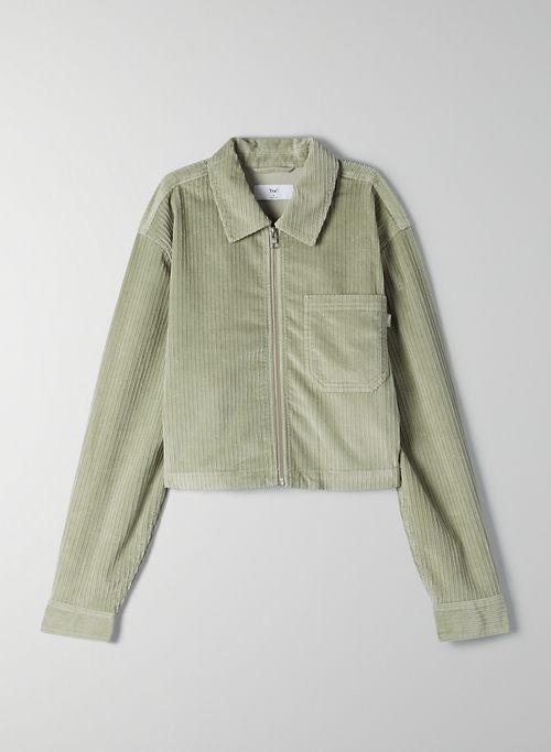 DIXON JACKET - Cropped corduroy shirt-jacket