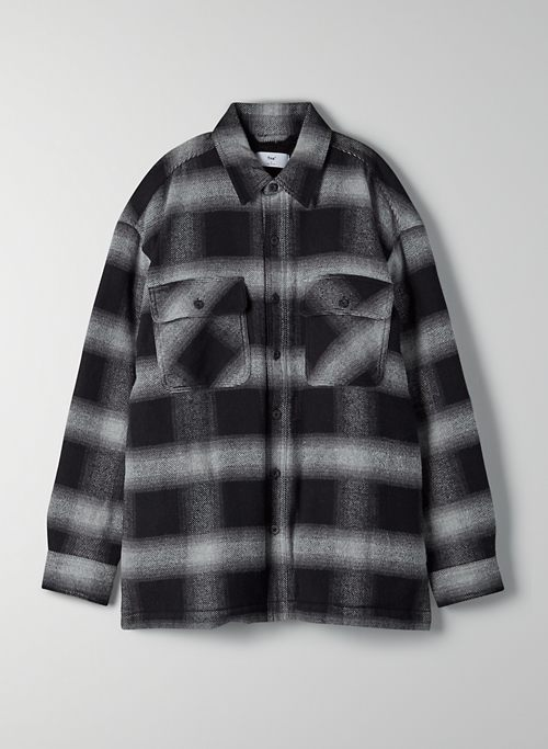 PROSPECT SHIRT JACKET - Plaid flannel shacket