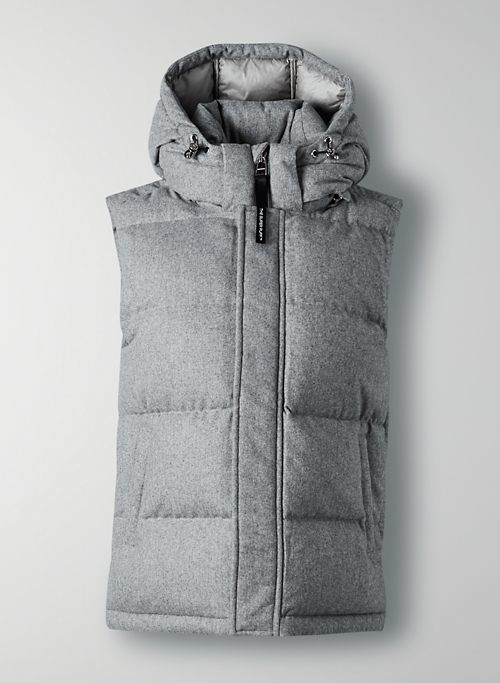 THE SUPER PUFF™ VEST - Wool goose-down puffer vest