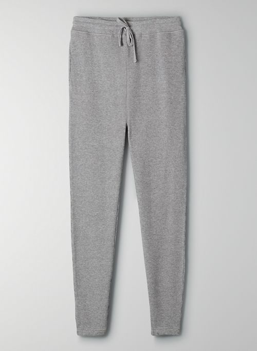 THERMAL HIGH-RISE JOGGER - Waffle sweatpants