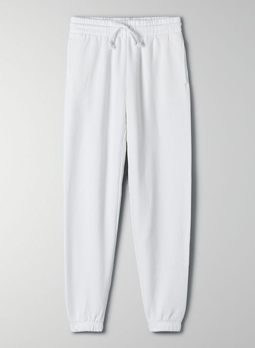 COZY FLEECE PERFECT SWEATPANT - Mid-rise, elastic cuff sweatpant