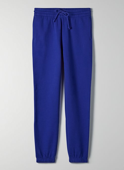 COZY FLEECE PERFECT SWEATPANT - Mid-rise, elastic cuff sweatpant