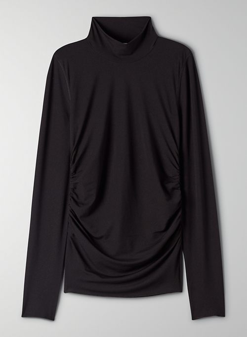 MAUI LONGSLEEVE - Mesh mock-neck t-shirt