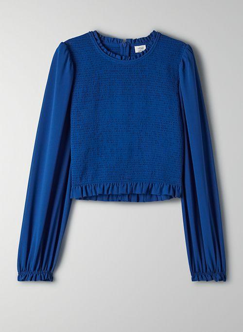 LILITH BLOUSE - Cropped chiffon prairie blouse