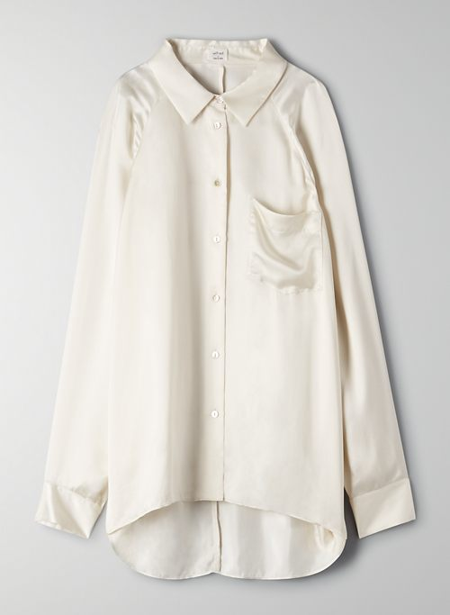 BOYFRIEND BUTTON-UP SHIRT | Aritzia