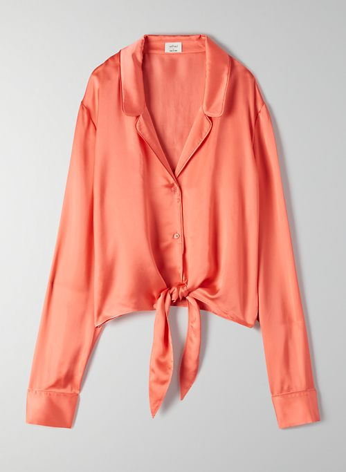 NEW TIE-FRONT BLOUSE - Cropped tie-front blouse