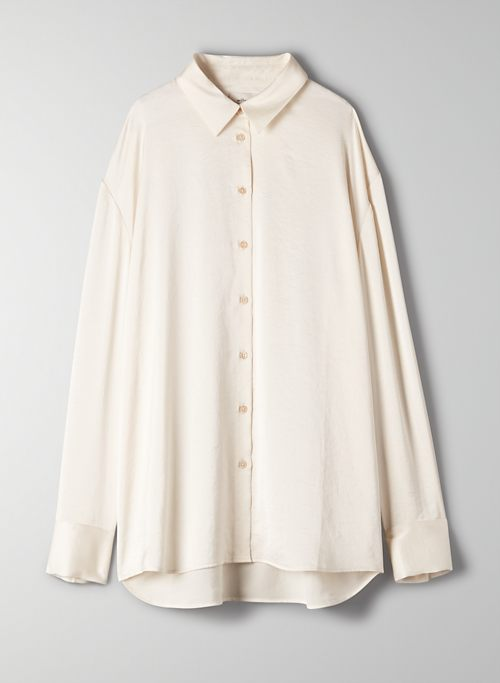 LOUVRE BLOUSE - Satin button-up blouse