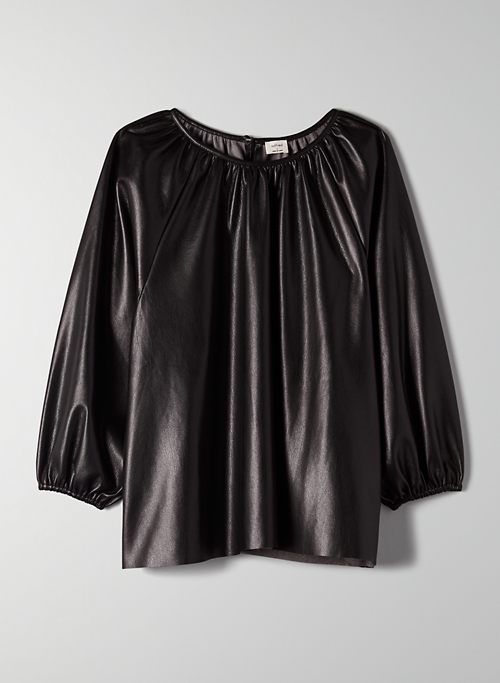 BICA BLOUSE - Vegan leather blouse