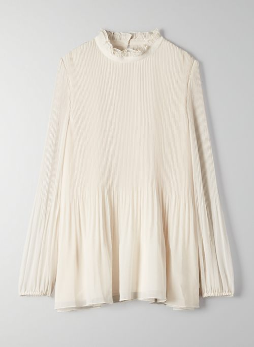 BARRIO BLOUSE - Puff-sleeve chiffon blouse