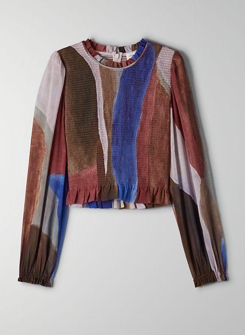 TEMPEST BLOUSE - Smocked prairie blouse