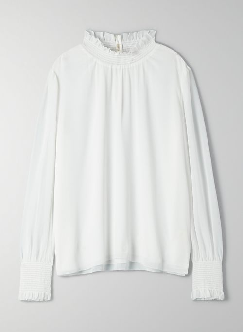 VALENCIA BLOUSE - Long-sleeve chiffon blouse
