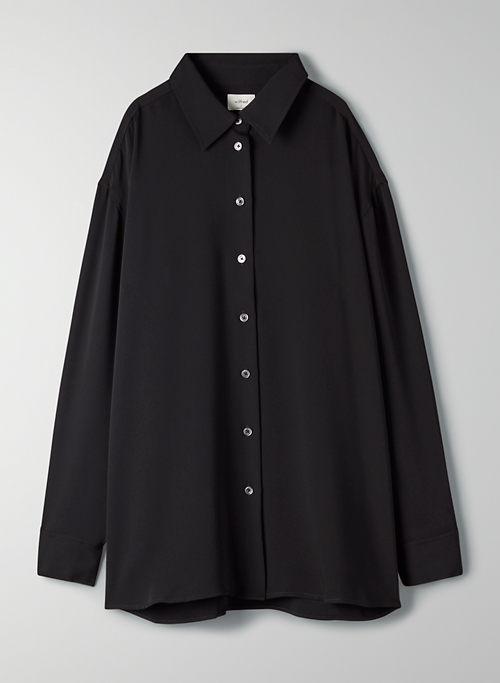 CORFU BUTTON-UP - Satin button-up blouse
