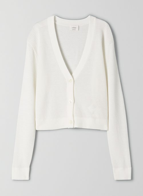 LIGHT CROPPED CARDIGAN | Aritzia
