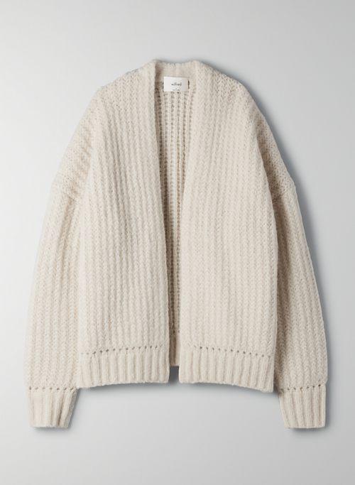 JILLIAN CARDIGAN - Open-front knit cardigan