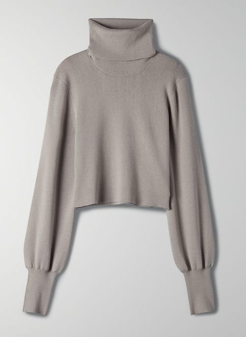 REBECCA SWEATER - Cropped turtleneck sweater