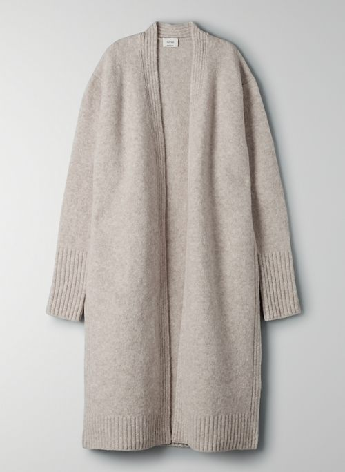 MANTEO CARDIGAN - Long wool cardigan
