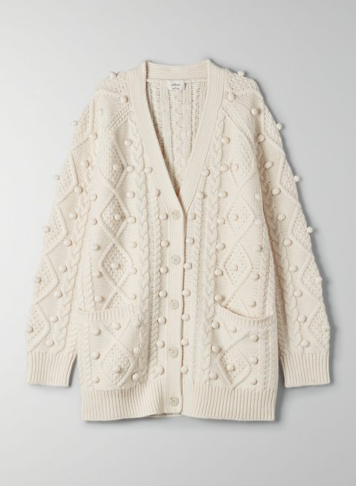 ALPS CARDIGAN - Cable-knit cardigan